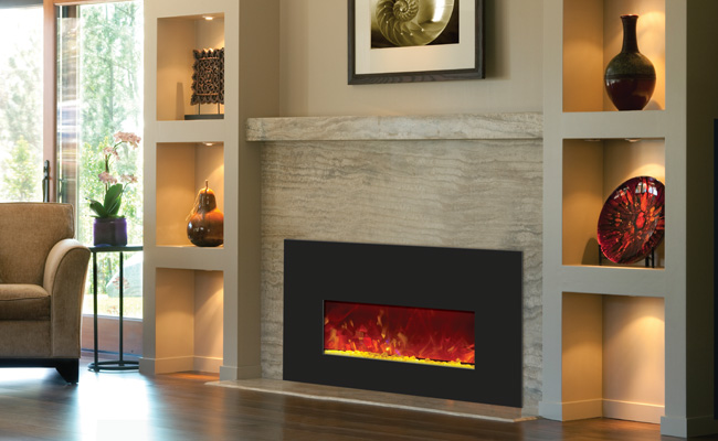 electric fireplace - small insert 26 inches wide
